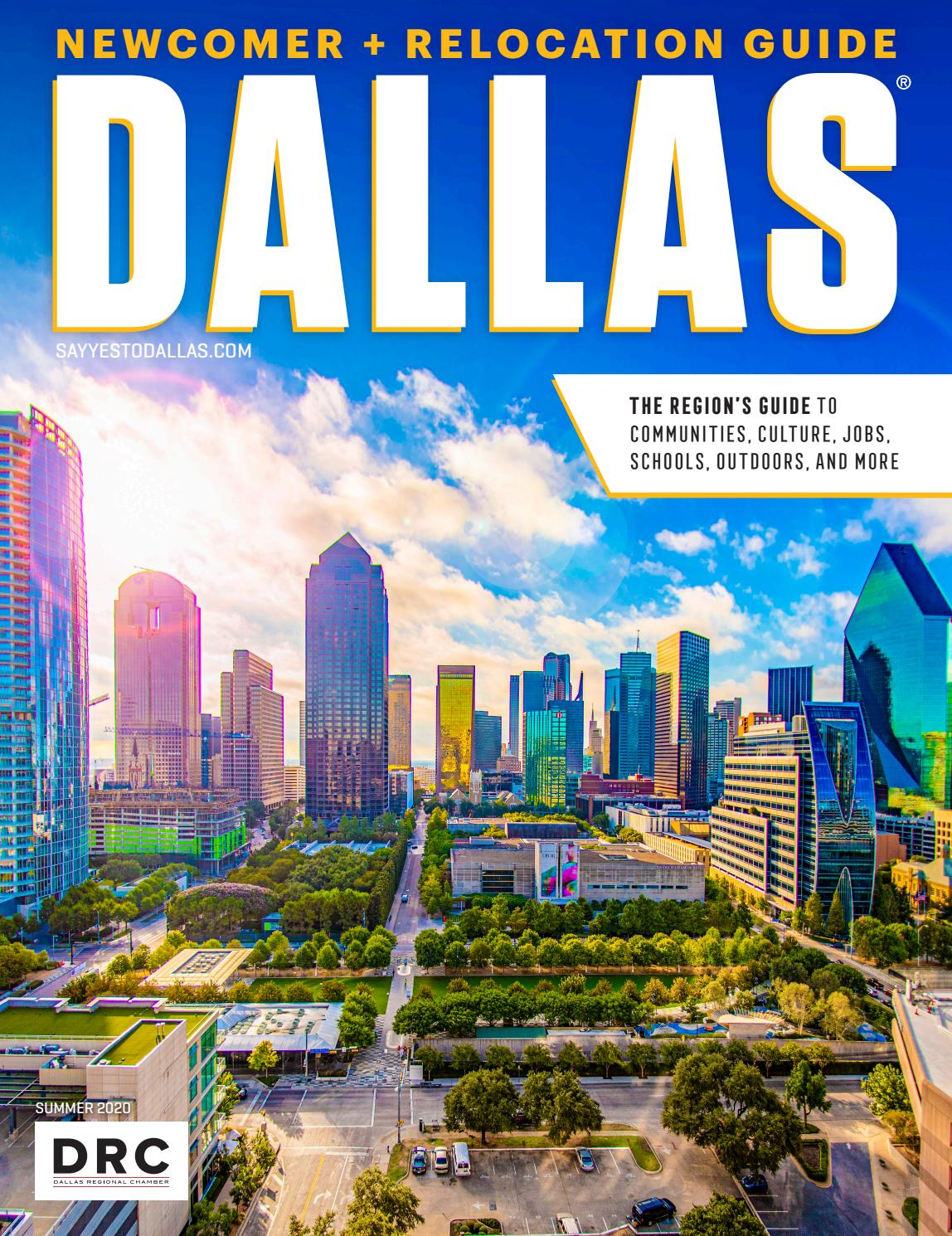 Dallas Newcomer + Relocation Guide - Summer 2020 by Dallas Regional Chamber  Publications - issuu