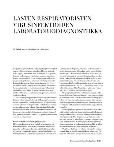 Page 11 of LASTEN RESPIRATORISTEN VIRUSINFEKTIOIDEN LABORATORIODIAGNOSTIIKKA