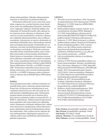 Page 48 of TEKOÄLYN HYÖDYNTÄMINEN PATOLOGIAN DIAGNOSTIIKASSA – SUKELLUS DIGIPATOLOGIAAN