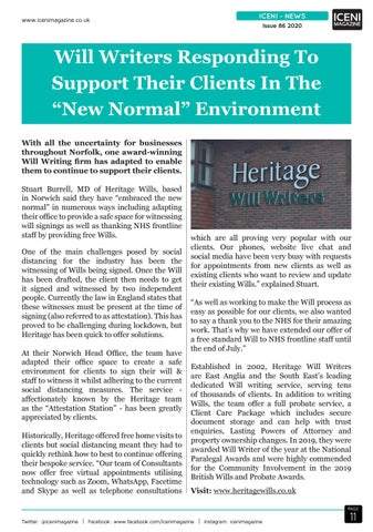 Page 11 of Iceni News Will Writers Responding