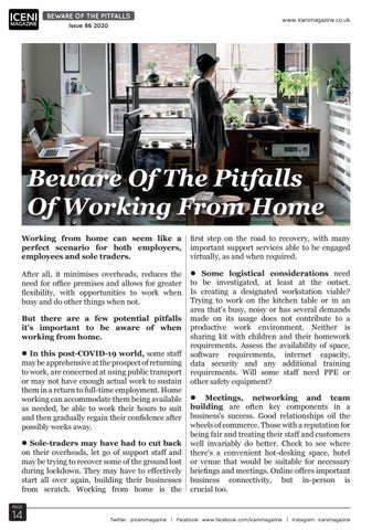 Page 14 of Beware Of The Pitfalls Of Working From Home