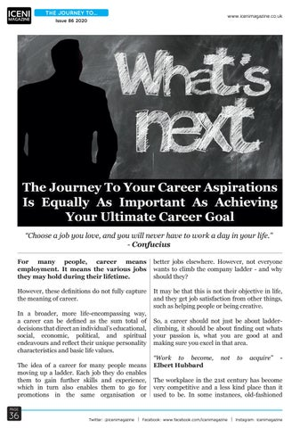 Page 36 of The Journey To Your Career Aspirations