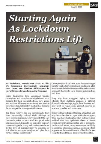 Page 39 of Starting Again As Lockdown Restrictions Lift