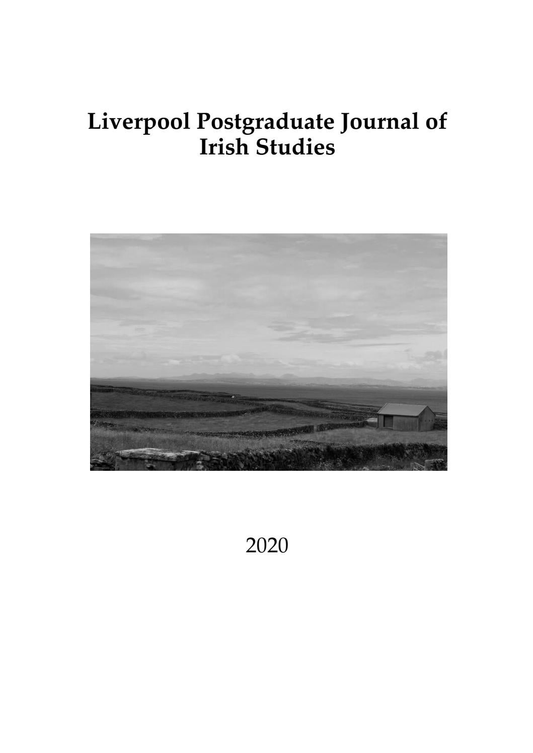 Liverpool Postgraduate Journal Of Irish Studies Issue Four By Lpjis Issuu