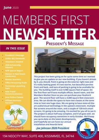 2020 June Newsletter by Osceola County Association of REALTORS
