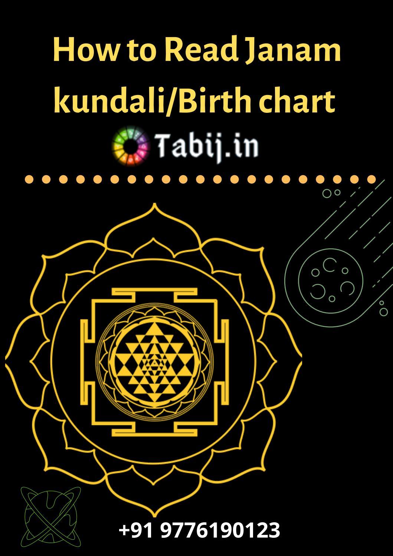 How to read kundli/Janam kundali Free Birth chart analysis by blog ...