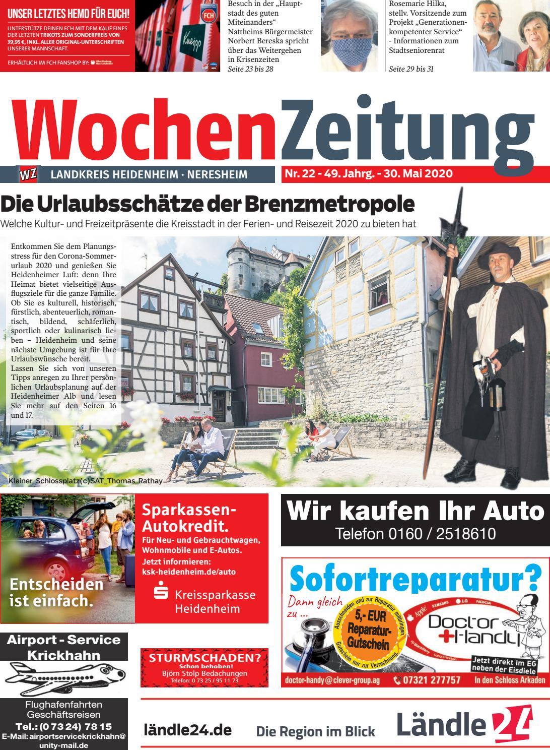 Wochenzeitung Heidenheim Kw 22 20 By Wochenzeitung Sonntagszeitung Issuu