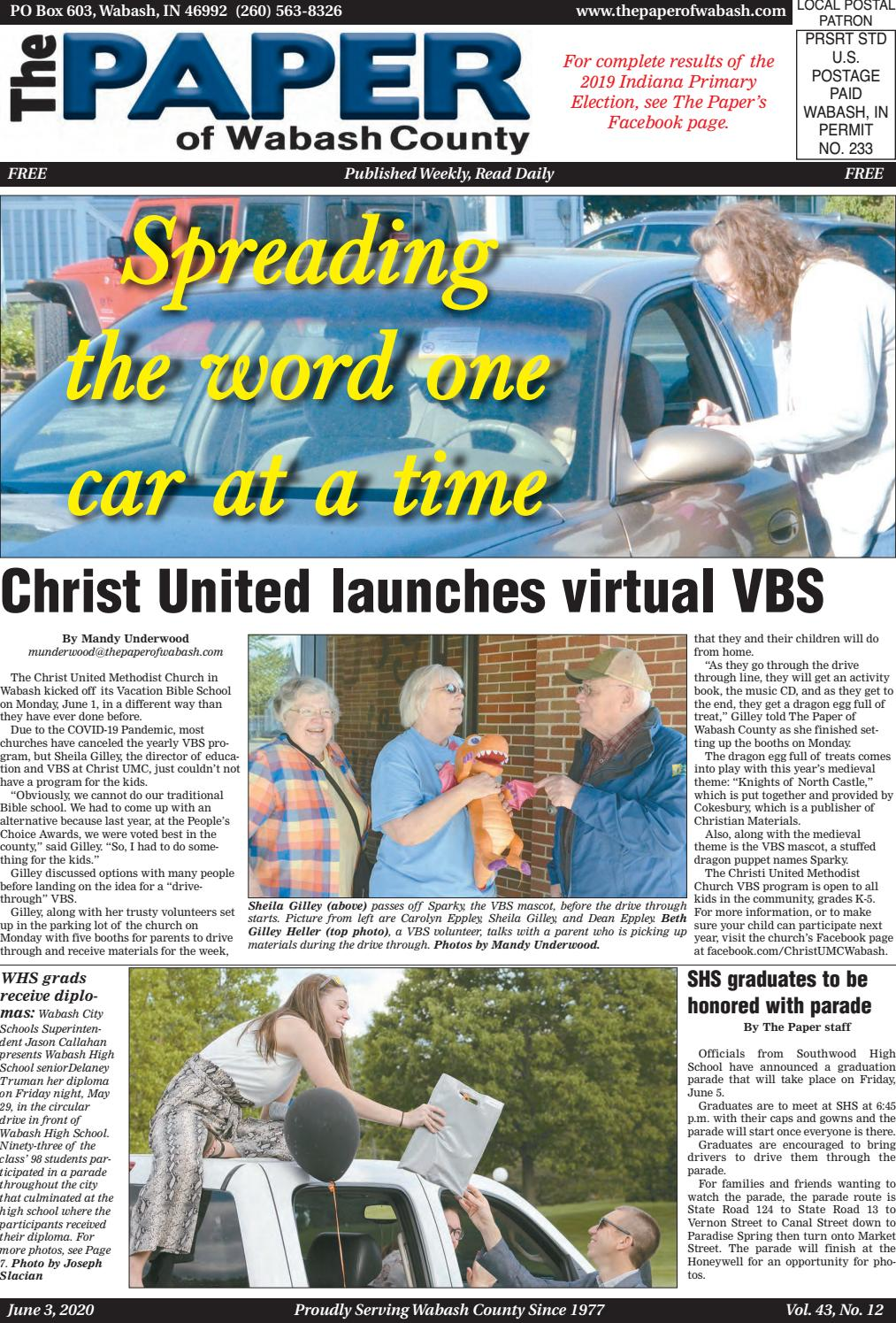 The Paper Of Wabash County June 3 2020 Issue By The Paper Of Wabash County Issuu
