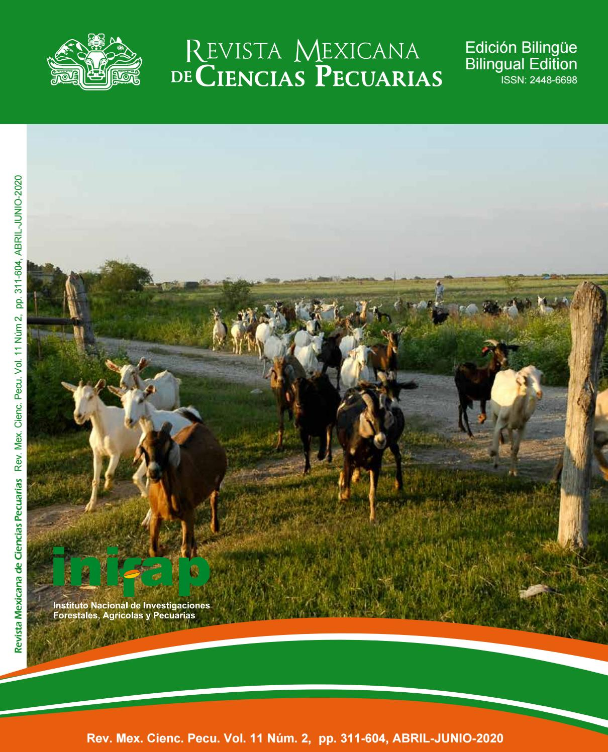 Rmcp Vol 11 Num 2 2020 April June English Version By Revista Mexicana De Ciencias Pecuarias Issuu