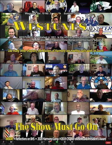 Masters Of Harmony Christmas Show 2020 Westunes, Vol. 70 No. 2, Summer 2020 by Far Western District   issuu