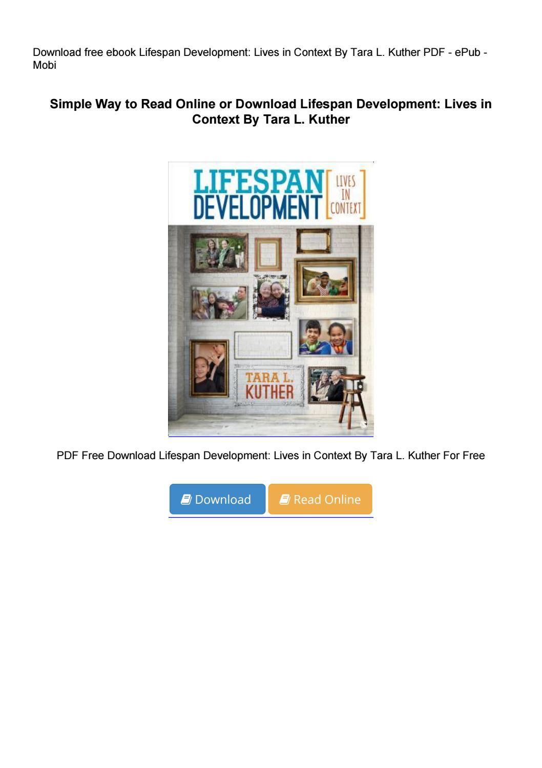 lifespan development lives in context pdf free