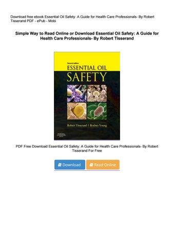 essential oil safety robert tisserand free download