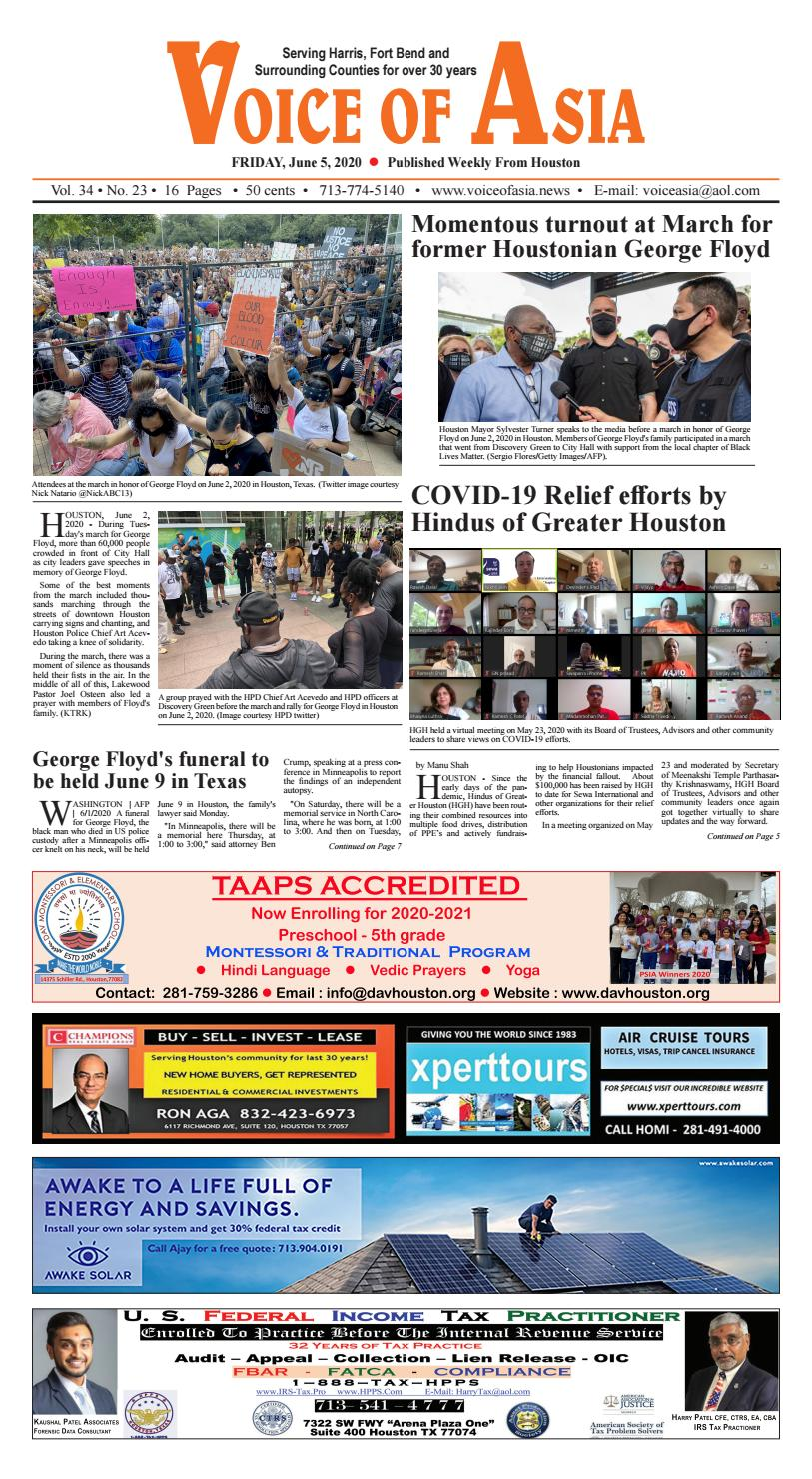 VOA E - Paper 06-05-20 by VoiceOf Asia - issuu
