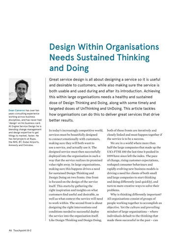 Page 46 of Design Within Organisations Needs Sustained Thinking and Doing