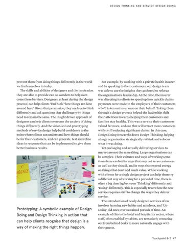 Page 47 of Design Within Organisations Needs Sustained Thinking and Doing