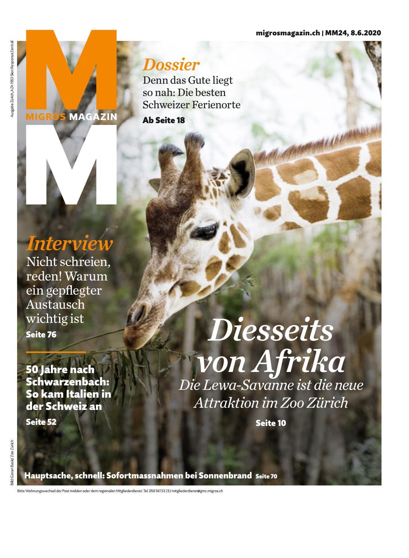 Migros Magazin 20 20 d ZH by Migros Genossenschafts Bund   issuu