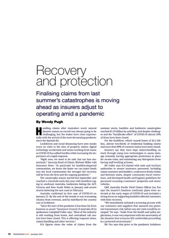 Page 30 of Recovery and protection