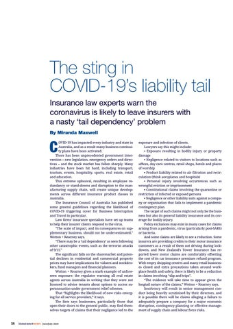 Page 58 of The sting in COVID-19's liability tail
