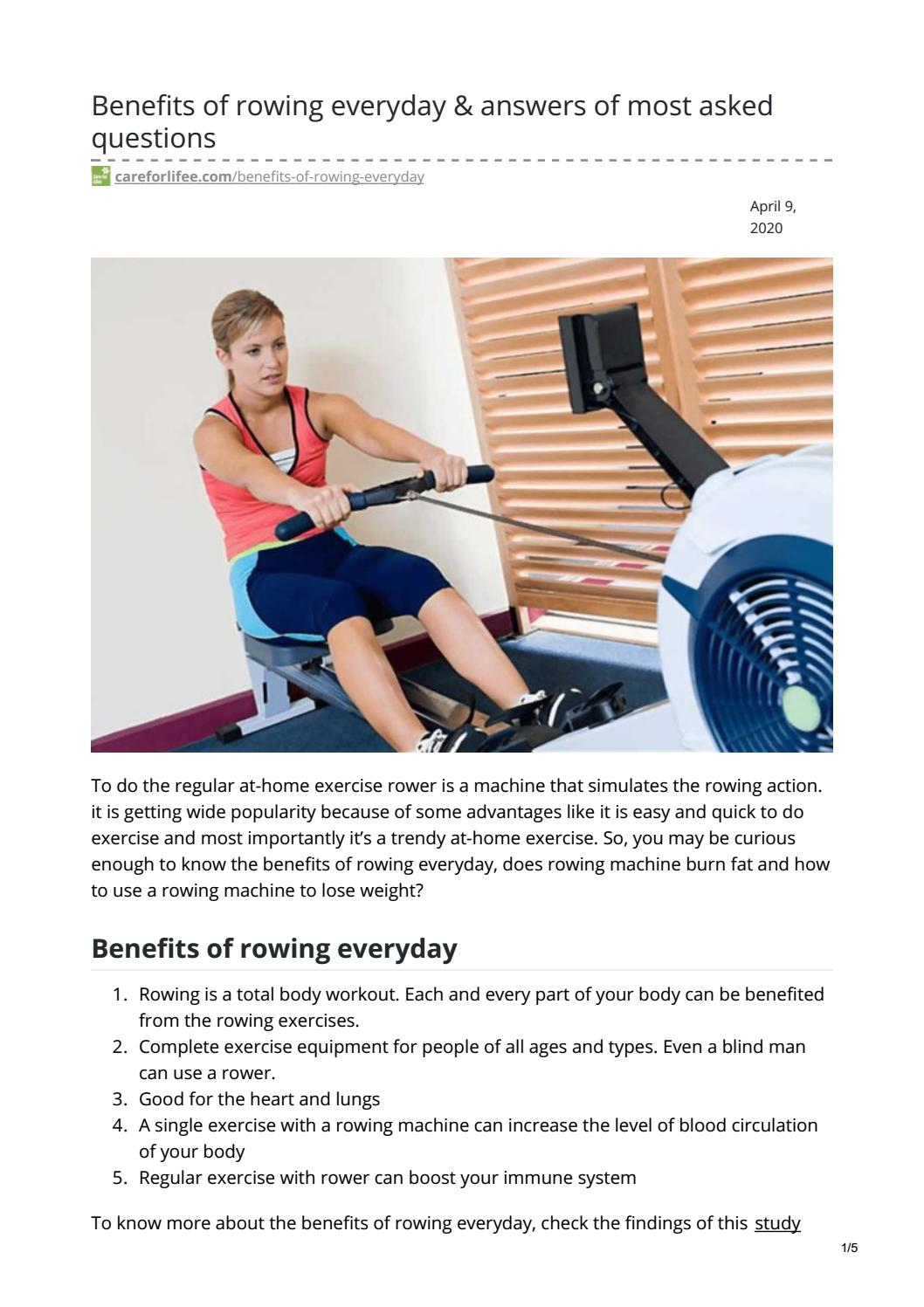 Benefits of rowing everyday & answers of most asked questions by Ariana  Silky - issuu