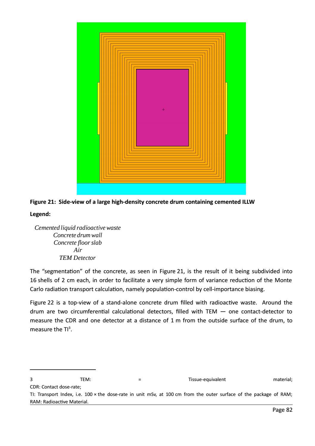 RADIOACTIVE WASTE: COMPUTATIONAL CHARACTERISATION and SHIELDING page 107