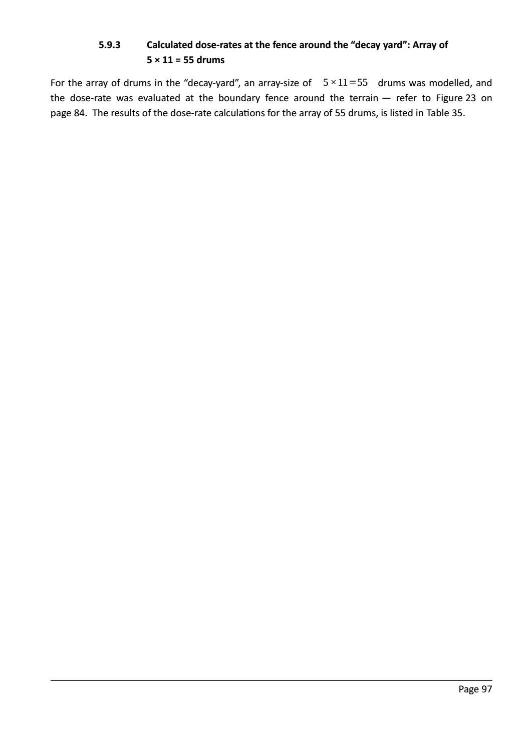 RADIOACTIVE WASTE: COMPUTATIONAL CHARACTERISATION and SHIELDING page 122