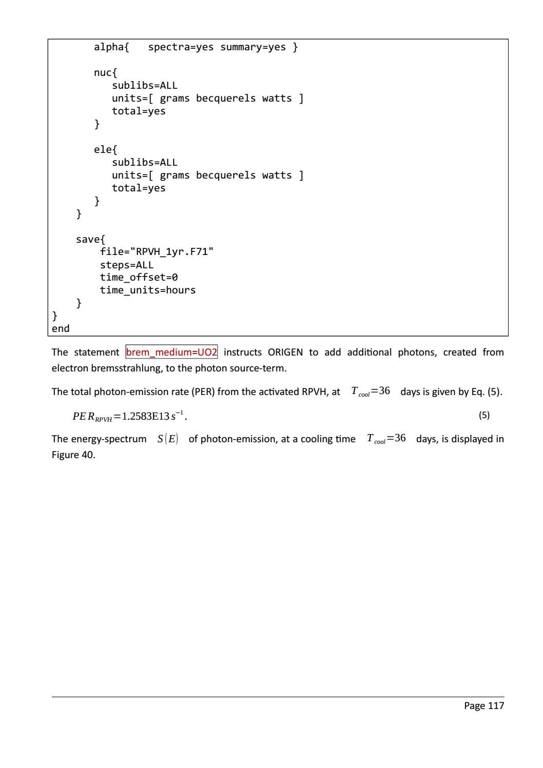 RADIOACTIVE WASTE: COMPUTATIONAL CHARACTERISATION and SHIELDING page 142