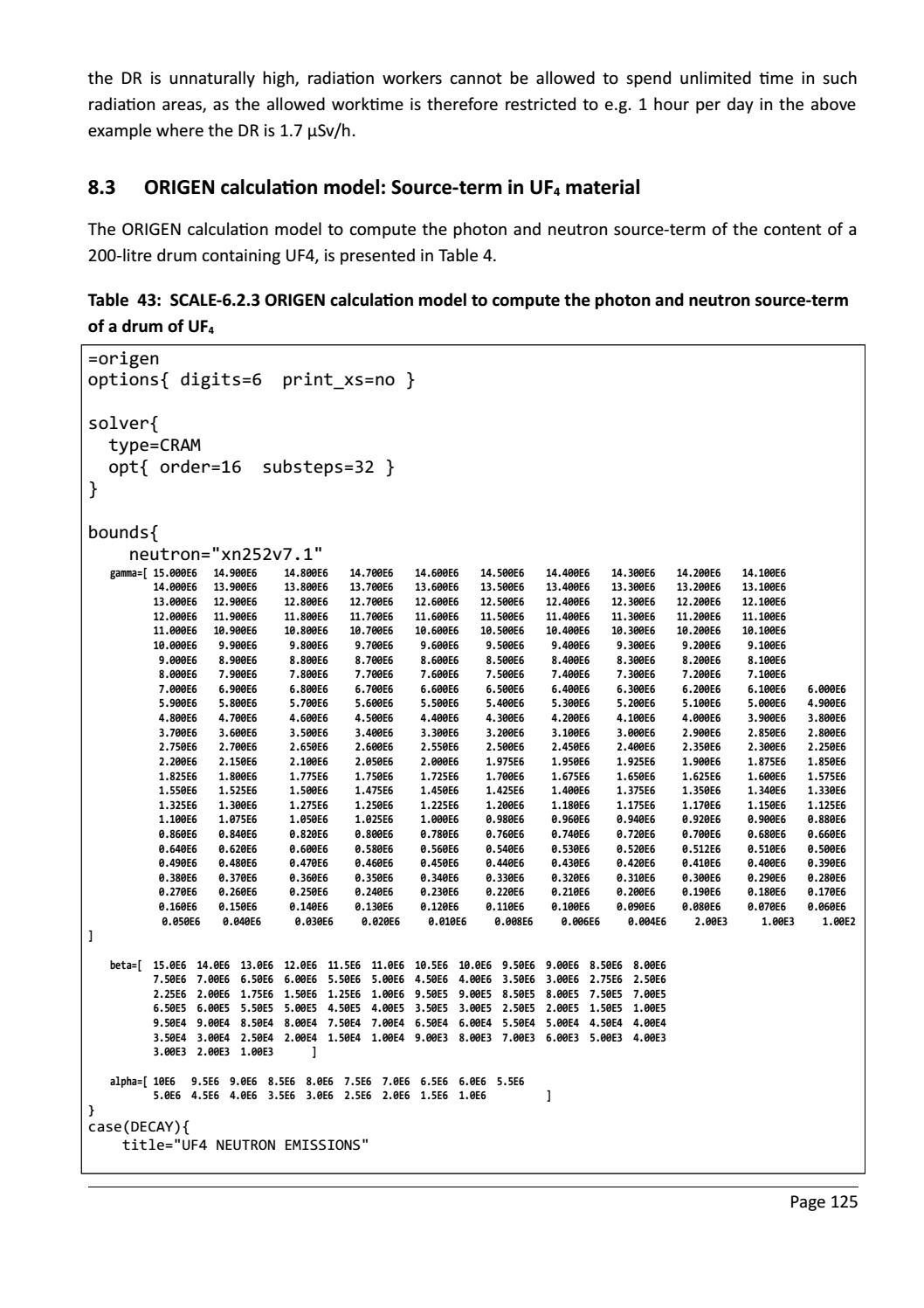 RADIOACTIVE WASTE: COMPUTATIONAL CHARACTERISATION and SHIELDING page 150