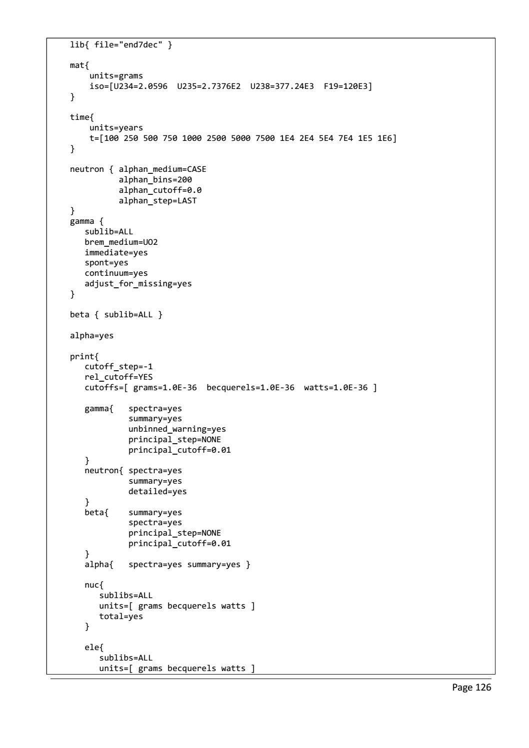 RADIOACTIVE WASTE: COMPUTATIONAL CHARACTERISATION and SHIELDING page 151