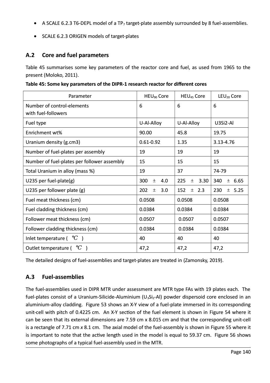 RADIOACTIVE WASTE: COMPUTATIONAL CHARACTERISATION and SHIELDING page 165