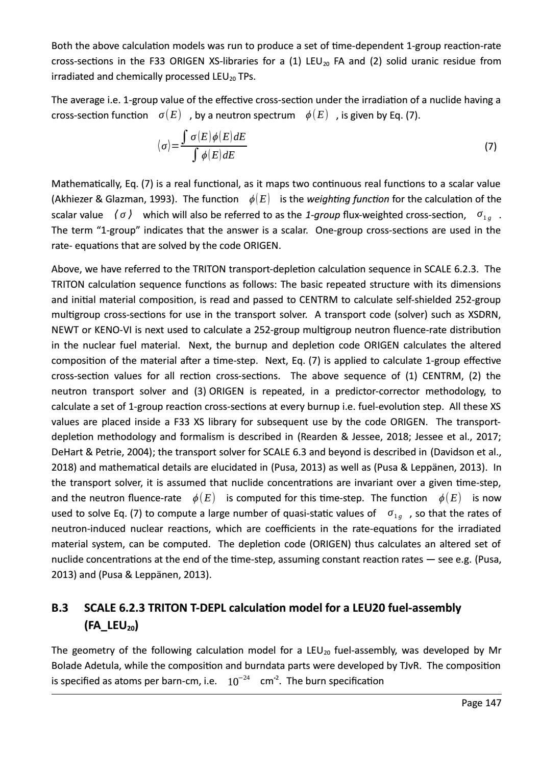 RADIOACTIVE WASTE: COMPUTATIONAL CHARACTERISATION and SHIELDING page 172