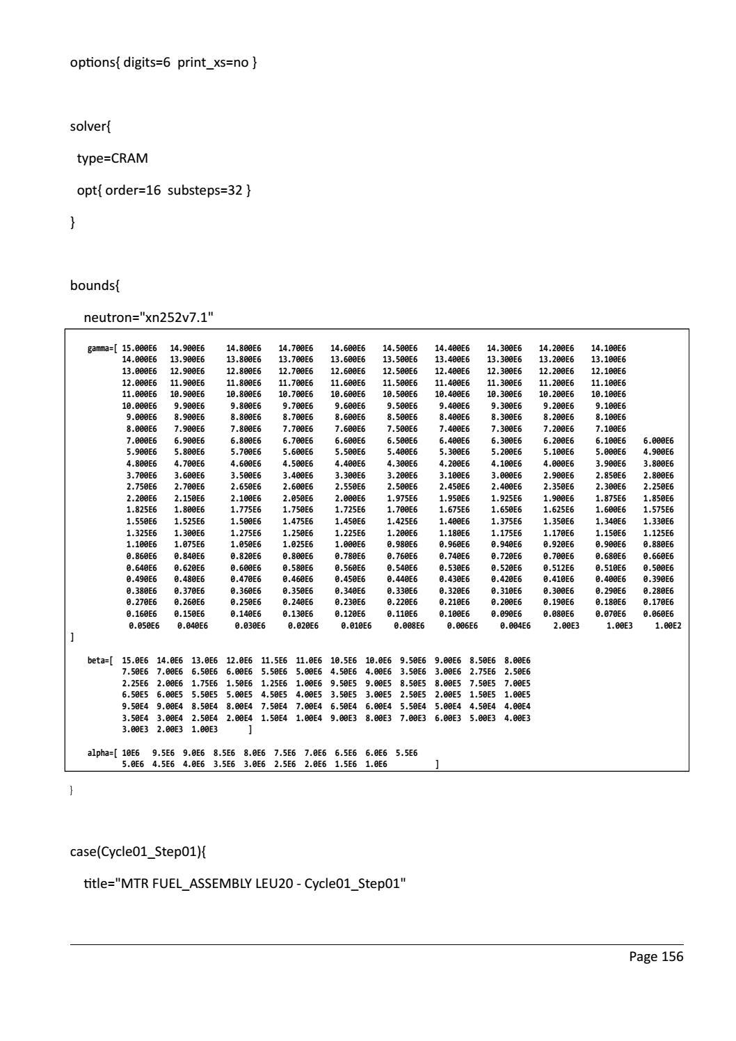 RADIOACTIVE WASTE: COMPUTATIONAL CHARACTERISATION and SHIELDING page 181