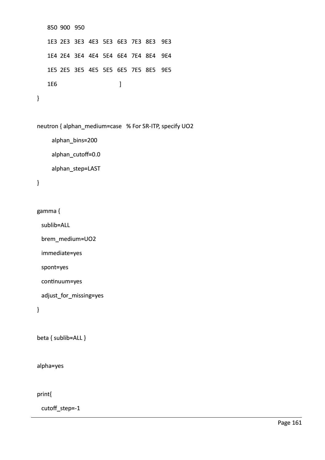 RADIOACTIVE WASTE: COMPUTATIONAL CHARACTERISATION and SHIELDING page 186