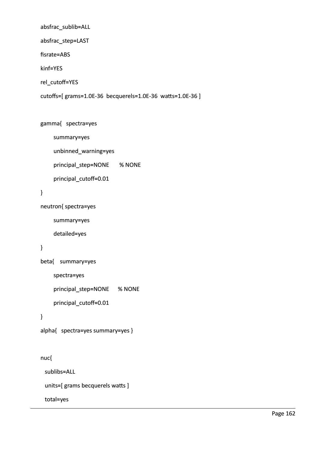 RADIOACTIVE WASTE: COMPUTATIONAL CHARACTERISATION and SHIELDING page 187