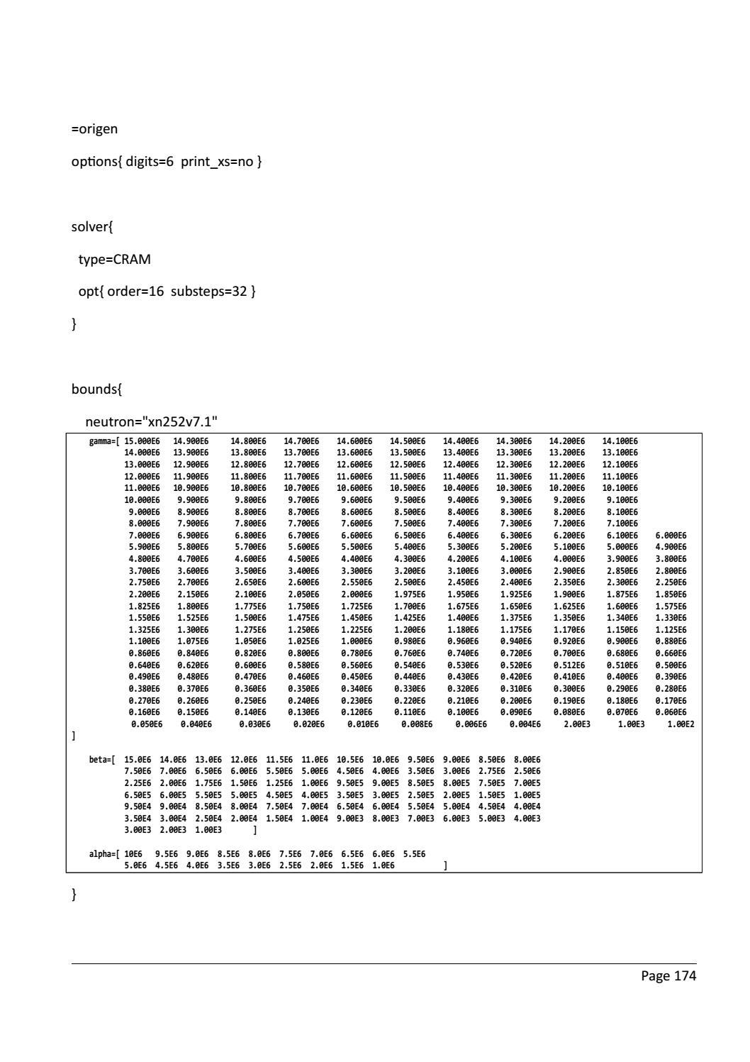 RADIOACTIVE WASTE: COMPUTATIONAL CHARACTERISATION and SHIELDING page 199