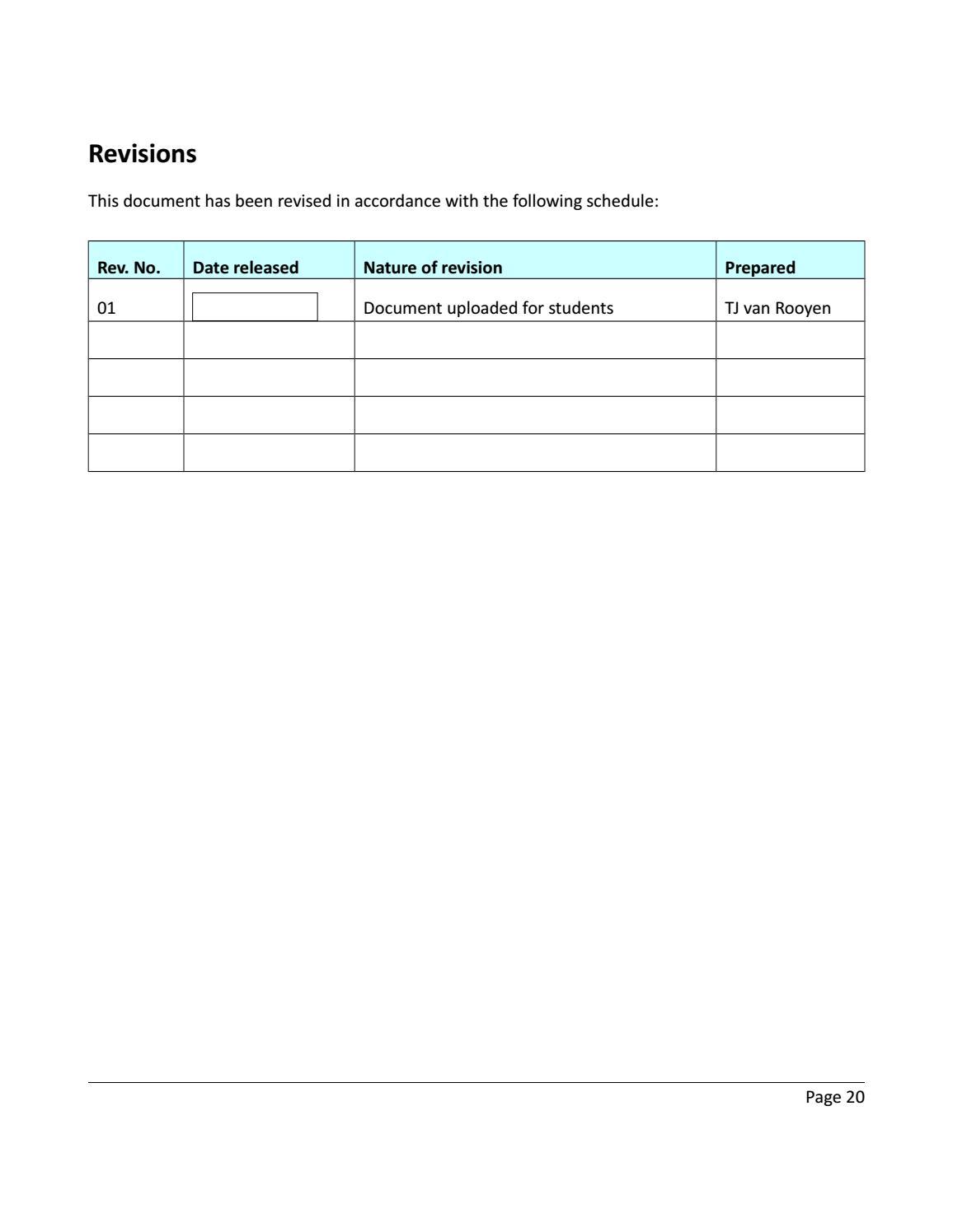RADIOACTIVE WASTE: COMPUTATIONAL CHARACTERISATION and SHIELDING page 20