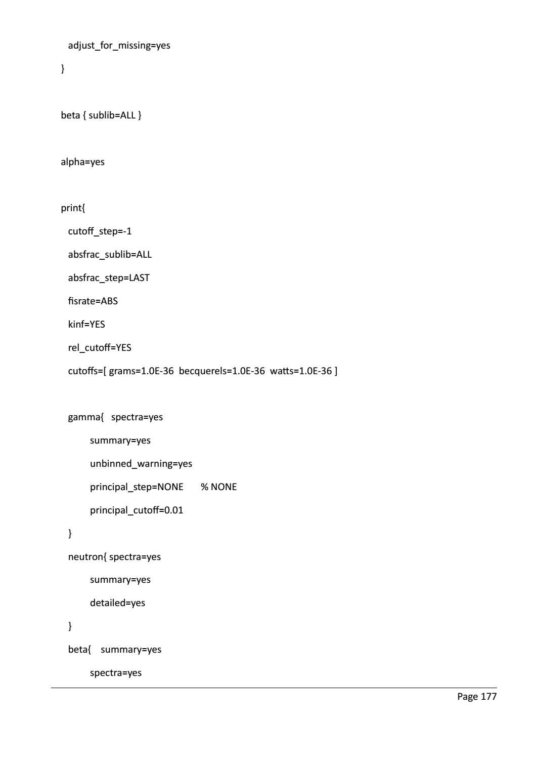 RADIOACTIVE WASTE: COMPUTATIONAL CHARACTERISATION and SHIELDING page 202