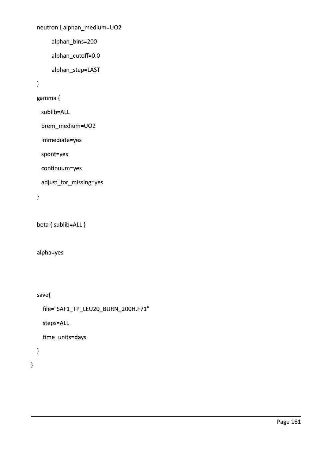 RADIOACTIVE WASTE: COMPUTATIONAL CHARACTERISATION and SHIELDING page 206