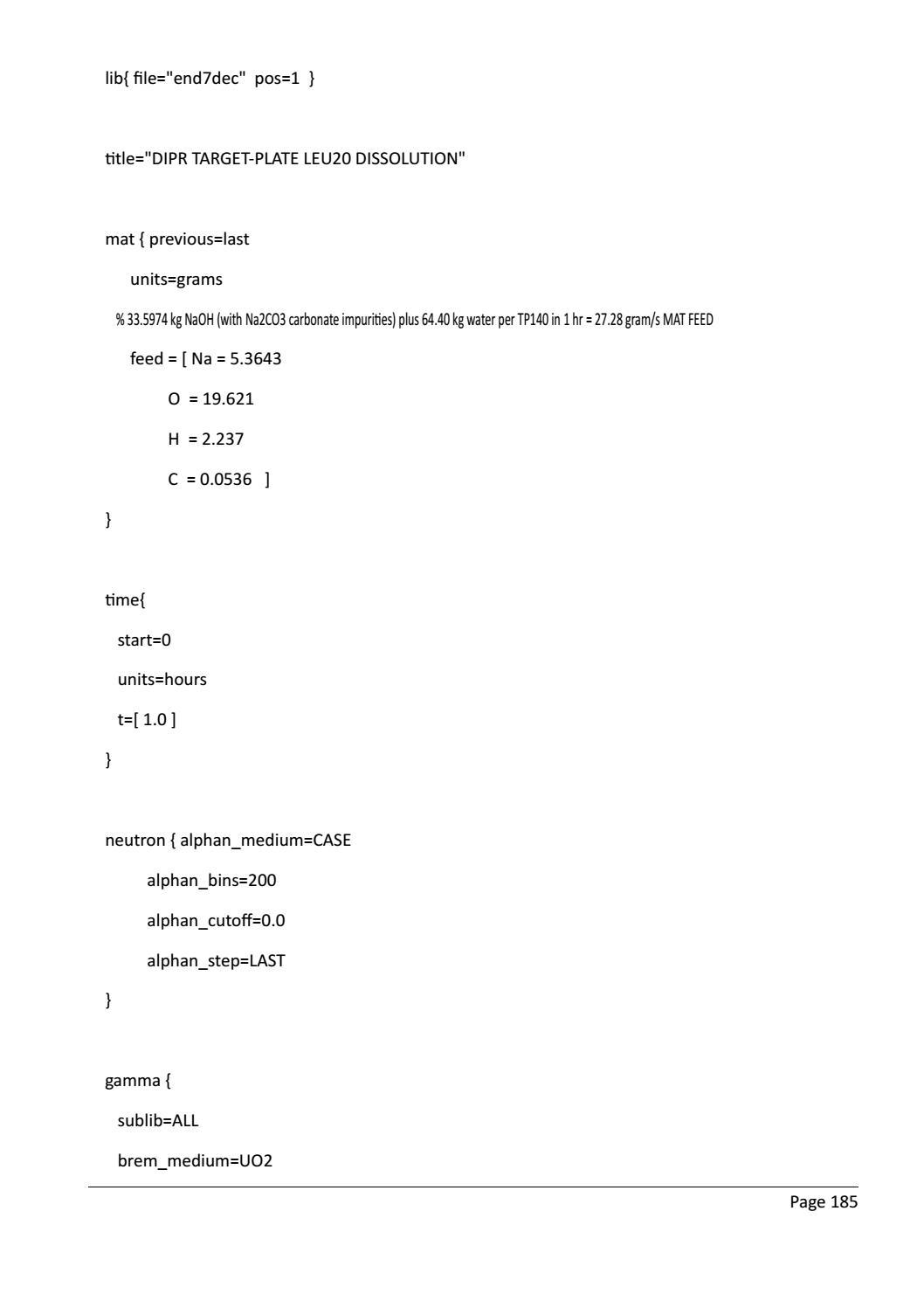 RADIOACTIVE WASTE: COMPUTATIONAL CHARACTERISATION and SHIELDING page 210