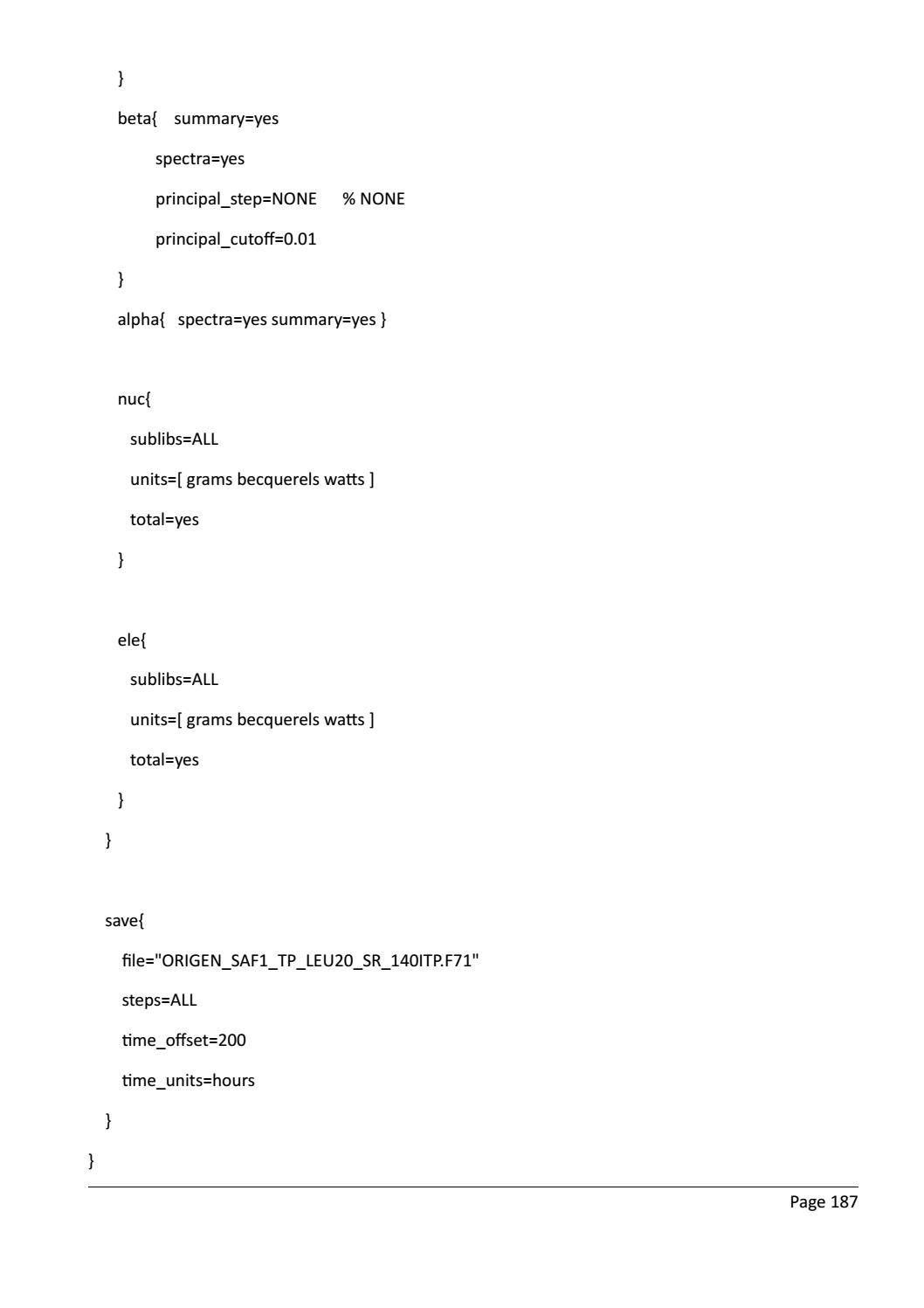RADIOACTIVE WASTE: COMPUTATIONAL CHARACTERISATION and SHIELDING page 212