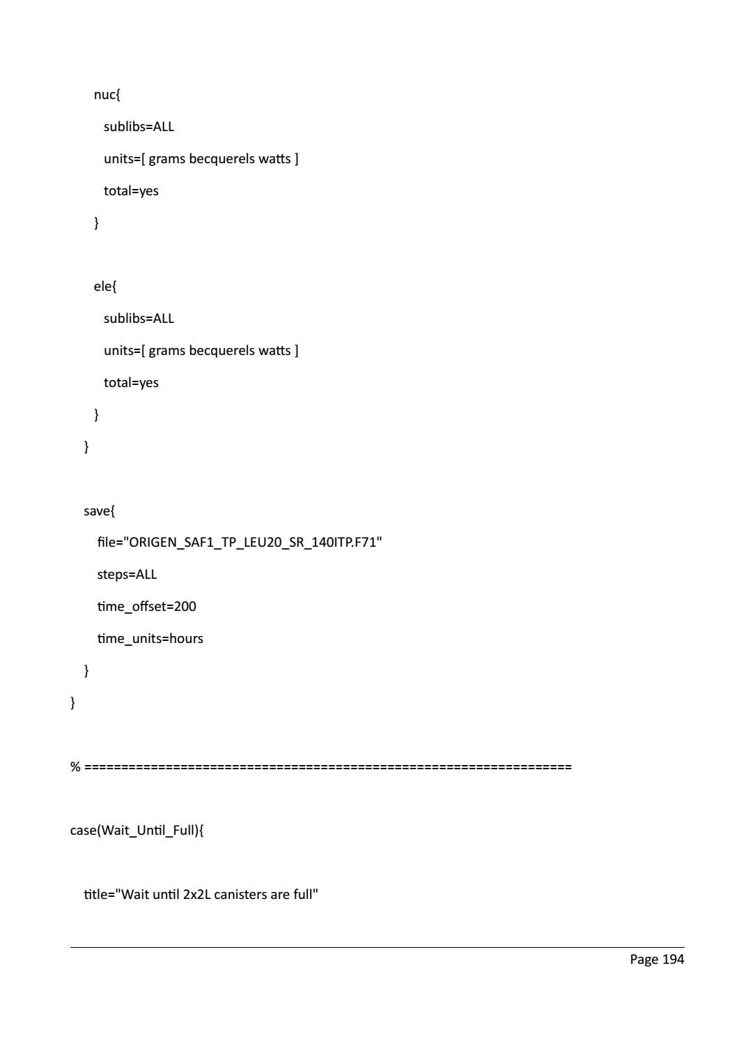 RADIOACTIVE WASTE: COMPUTATIONAL CHARACTERISATION and SHIELDING page 219