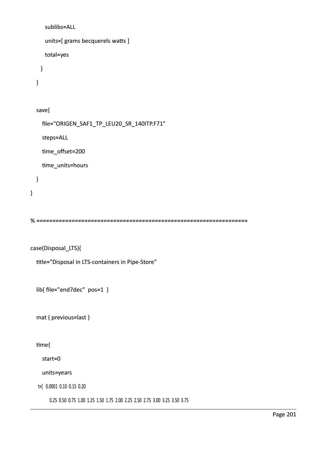 RADIOACTIVE WASTE: COMPUTATIONAL CHARACTERISATION and SHIELDING page 226