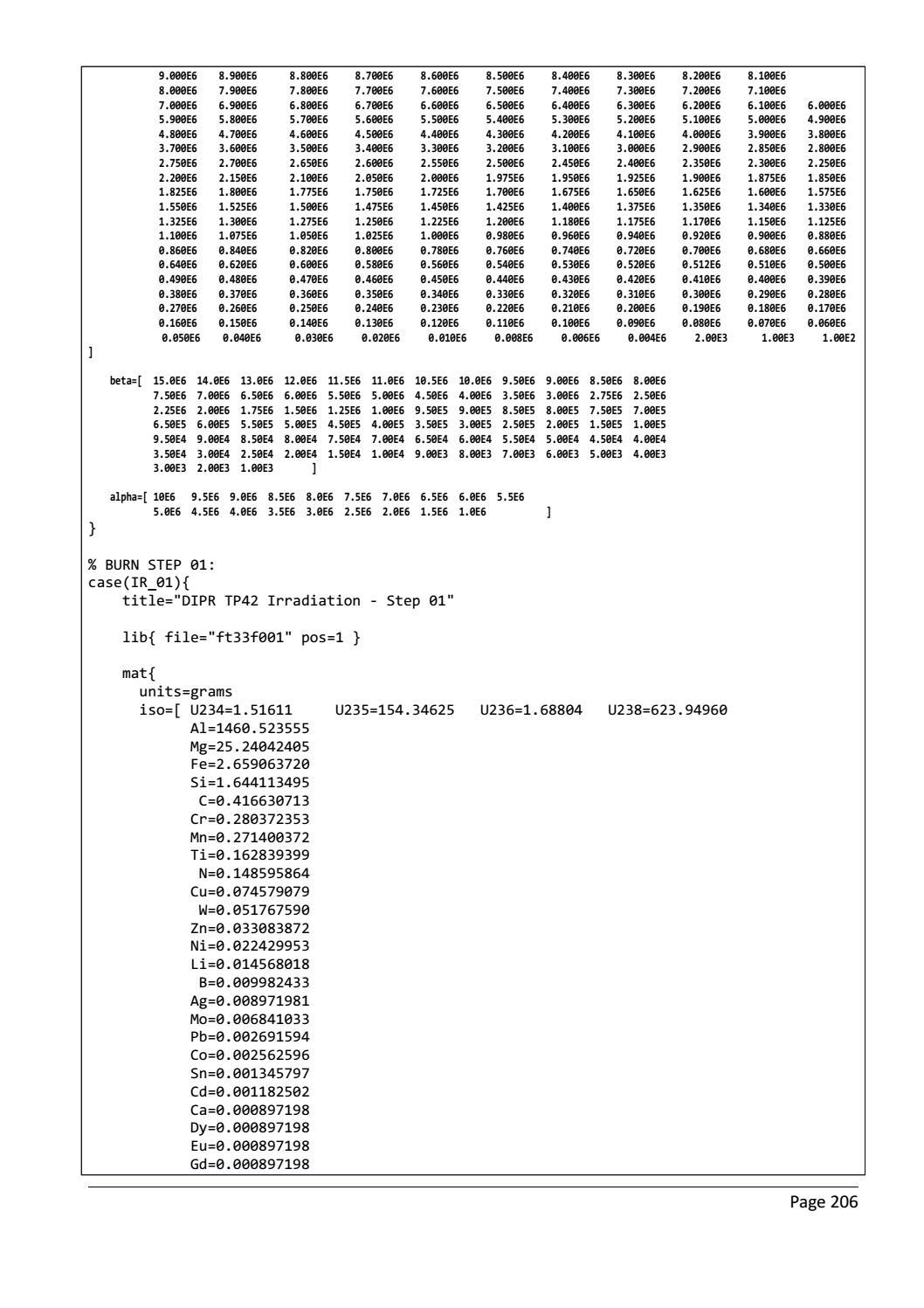 RADIOACTIVE WASTE: COMPUTATIONAL CHARACTERISATION and SHIELDING page 231