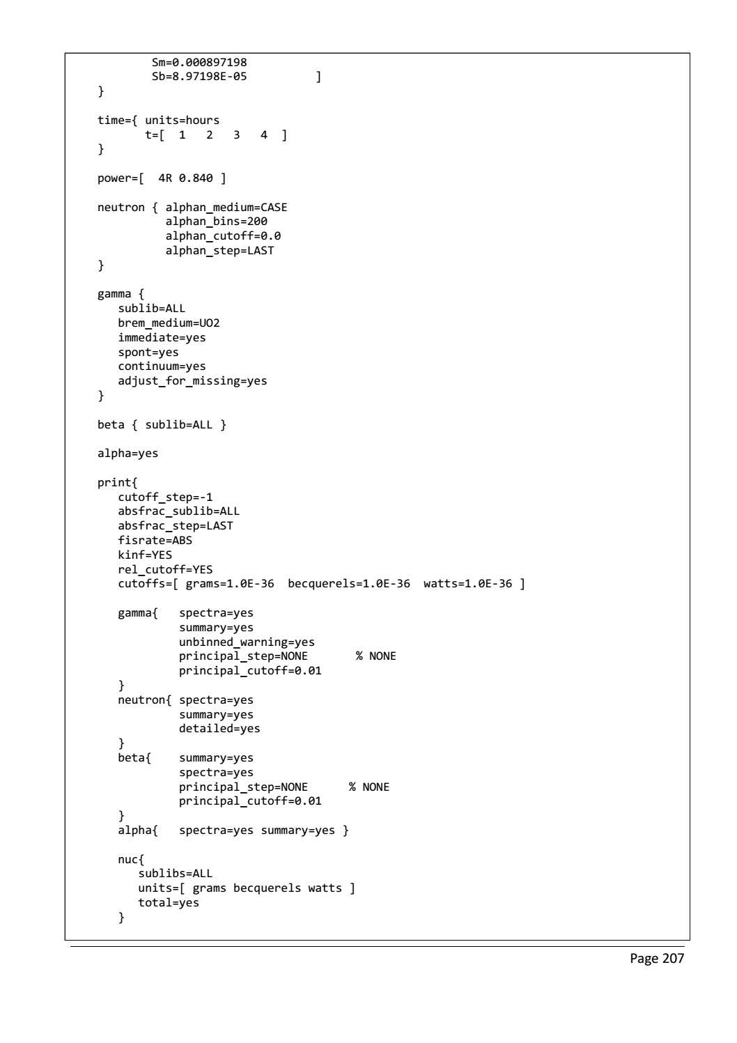 RADIOACTIVE WASTE: COMPUTATIONAL CHARACTERISATION and SHIELDING page 232