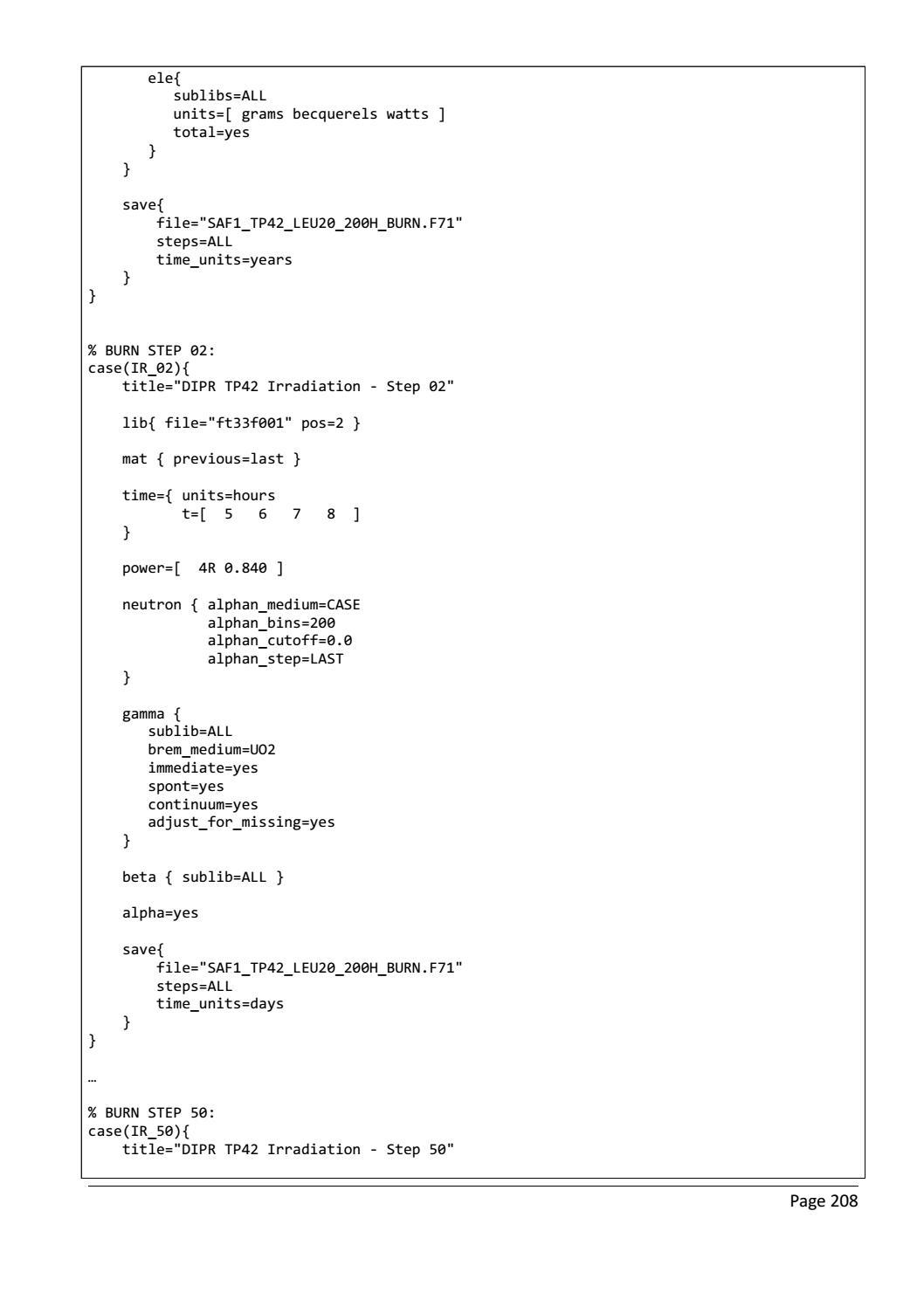 RADIOACTIVE WASTE: COMPUTATIONAL CHARACTERISATION and SHIELDING page 233