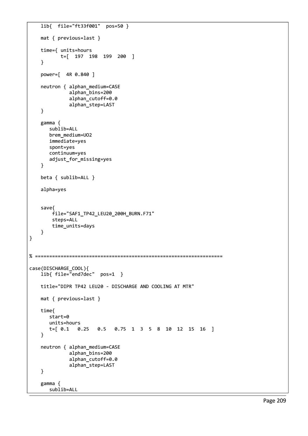 RADIOACTIVE WASTE: COMPUTATIONAL CHARACTERISATION and SHIELDING page 234