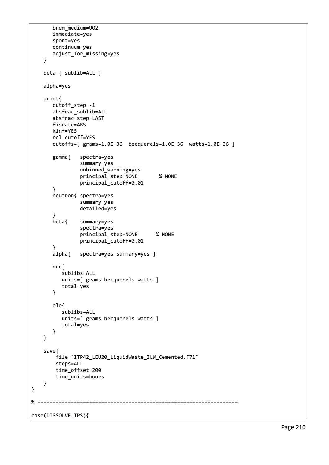 RADIOACTIVE WASTE: COMPUTATIONAL CHARACTERISATION and SHIELDING page 235