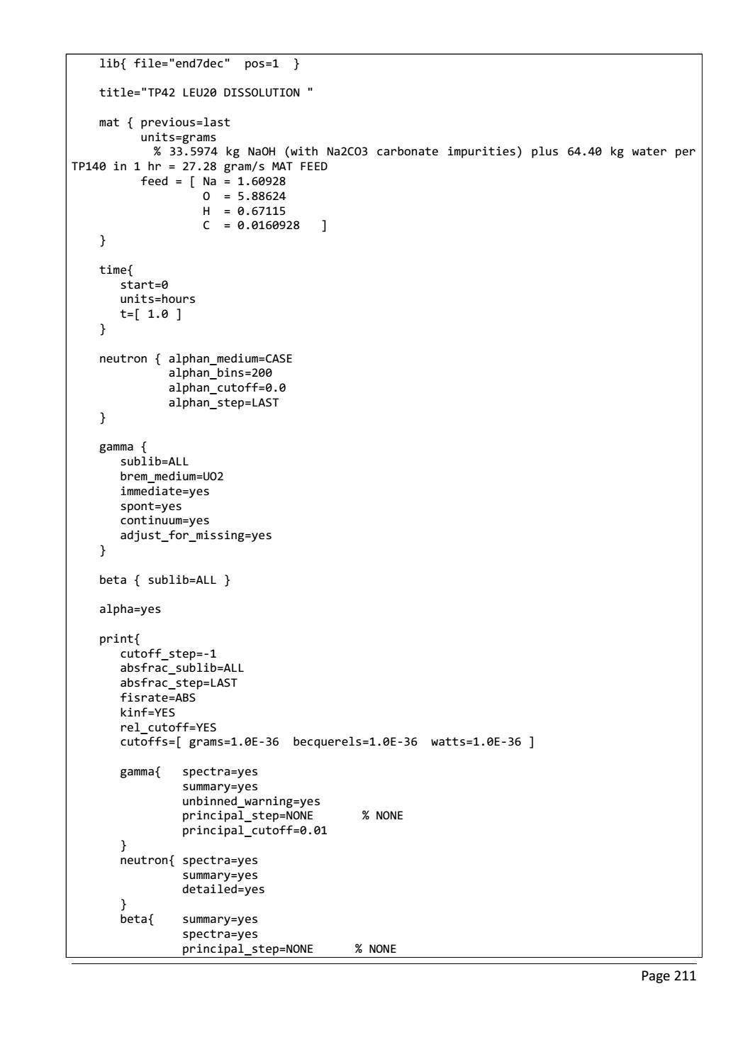 RADIOACTIVE WASTE: COMPUTATIONAL CHARACTERISATION and SHIELDING page 236