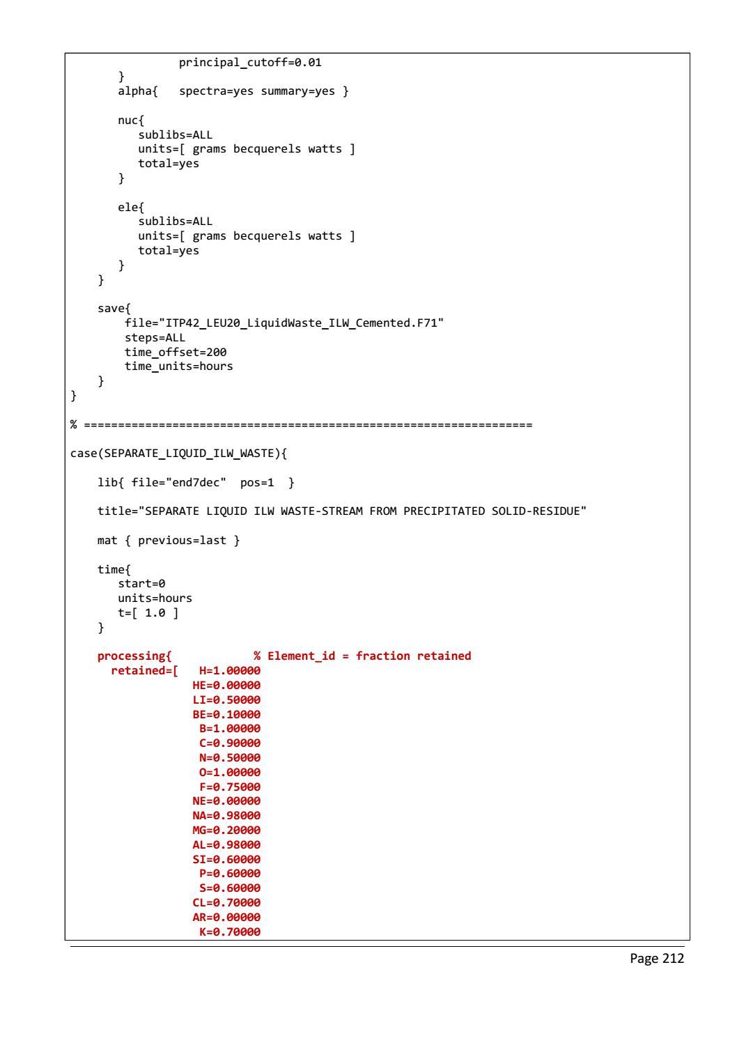 RADIOACTIVE WASTE: COMPUTATIONAL CHARACTERISATION and SHIELDING page 237