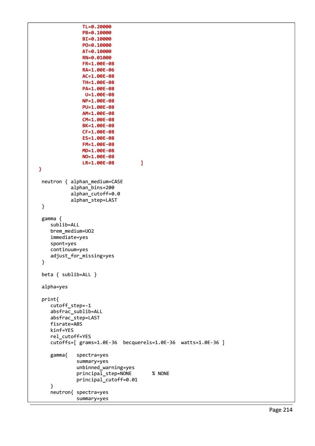 RADIOACTIVE WASTE: COMPUTATIONAL CHARACTERISATION and SHIELDING page 239