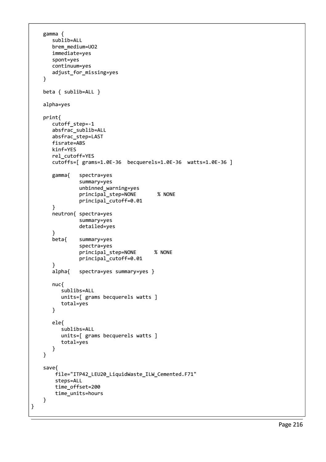 RADIOACTIVE WASTE: COMPUTATIONAL CHARACTERISATION and SHIELDING page 241